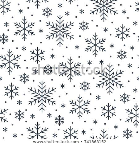 snowfall icon flat stock photo © smoki