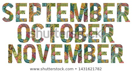 Word OCTOBER for coloring. Vector decorative zentangle object Stock photo © Natalia_1947