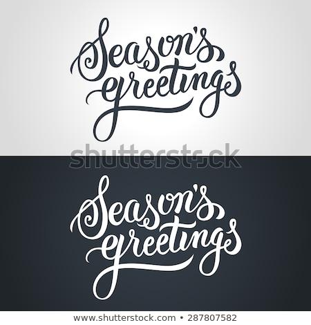 christmas ornaments and text seasons greetings Stock photo © nito