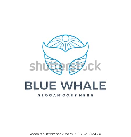 Photo stock: Whale Tail Ocean Sun Vector Summer Icon