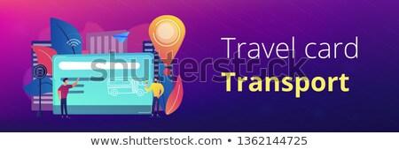 общественном транспорте путешествия карт баннер Сток-фото © RAStudio
