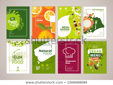 Healthy Food Poster and Icons Vector Illustration Stock photo © robuart
