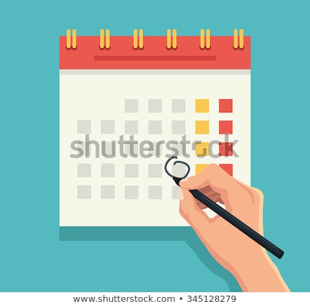 Calendar with Highlighed Days Vector Illustration Stock photo © robuart