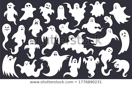 Ghost Poltergeist Creature of Halloween Vector Stock photo © robuart