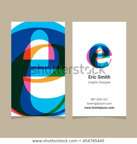 orange yellow e letter e symbol vector logotype stock photo © blaskorizov