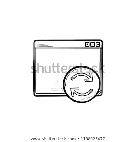 Browser window with restart button hand drawn outline doodle icon. Stock photo © RAStudio