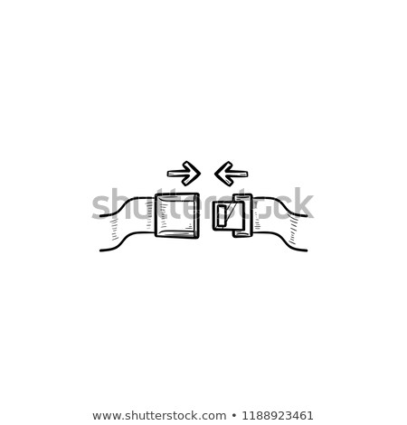 seat belt and arrows hand drawn outline doodle icon stock photo © rastudio