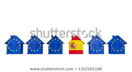 実例 · eu · フラグ · スペイン · 孤立した · 白 - ストックフォト © mikhailmishchenko