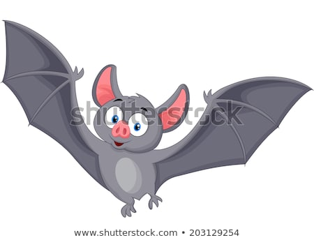 Smiling Vampire Bat Cartoon Character Flying Stock photo © hittoon