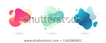 set of abstract liquid or fluid shape banners stock photo © sarts