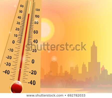 Illustration on the theme of global warming. Vector Stock photo © Arkadivna