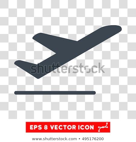 Aereo decollo icona fronte view colore Foto d'archivio © angelp