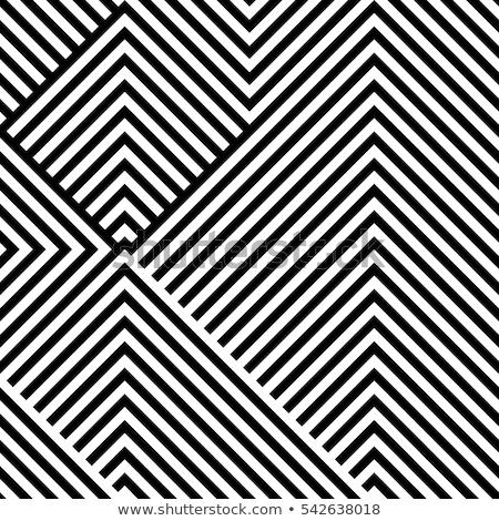 In bianco e nero nero zig-zag cubo vettore illustrazione Foto d'archivio © cidepix