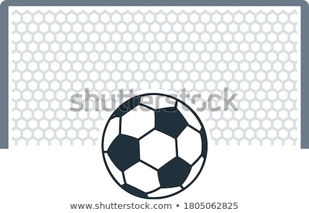 Soccer gate with ball on penalty point  icon Stock photo © angelp