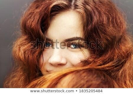 Foto primer plano caucásico mujer largo pelo oscuro Foto stock © deandrobot