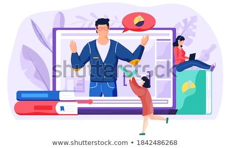 recorded classes web banner concept stock photo © rastudio