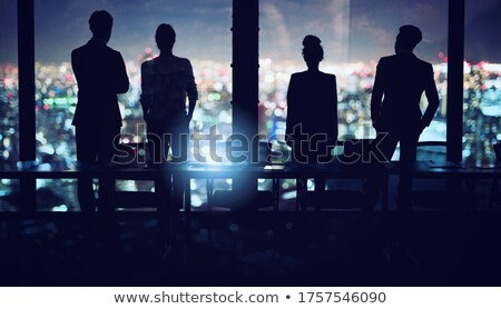 Businessmen that look far for the future. Concept of teamwork, partnership and startup Stock photo © alphaspirit