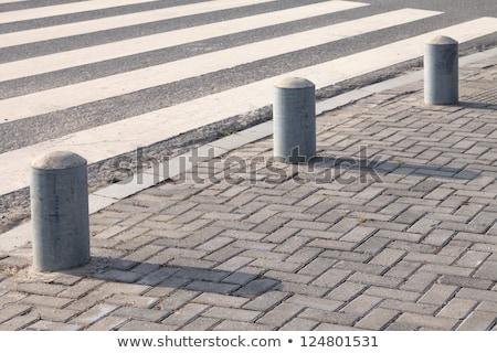 close up of crosswalk road surface marking Stock photo © dolgachov