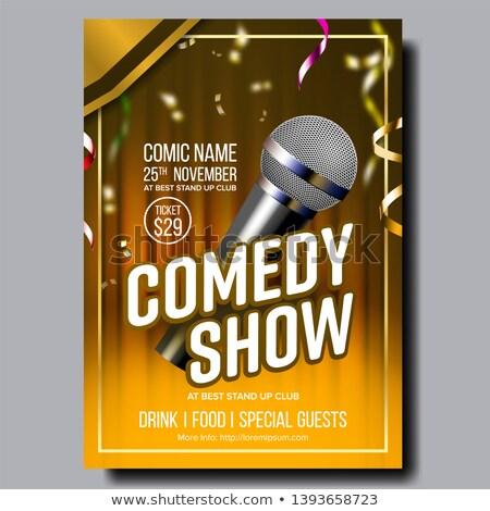 Nowoczesne elegancki plakat karty komedia pokaż Zdjęcia stock © pikepicture