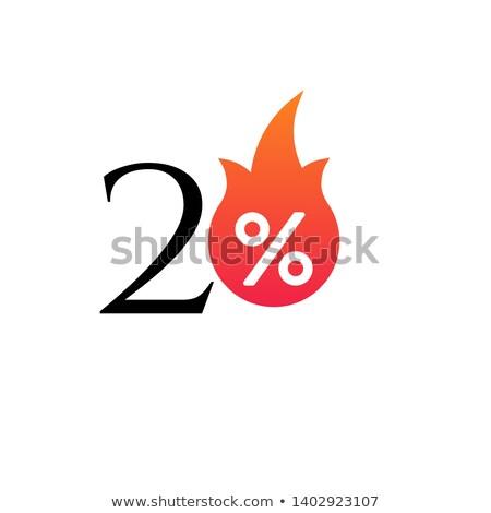 20 pour cent flamme brûlant vignette Photo stock © kyryloff