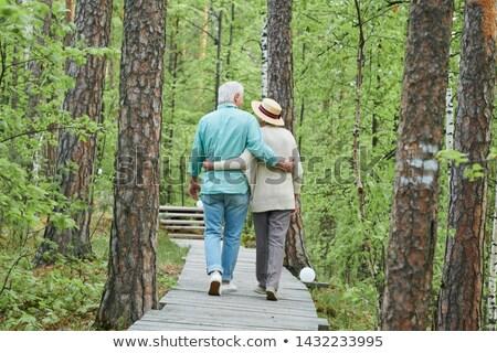 Hátsó nézet szerelmi szeretetteljes idős férj feleség Stock fotó © pressmaster