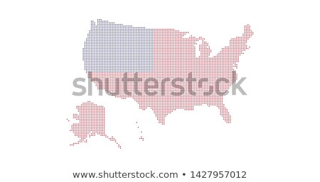 Punteado EUA mapa bandera colores aislado Foto stock © kyryloff