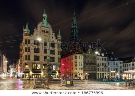 Kare akşam Kopenhag dikdörtgen biçiminde kamu şehir Stok fotoğraf © borisb17