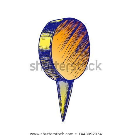 Stationery Thumbtack With Circle Flat Top Vector Stock photo © pikepicture