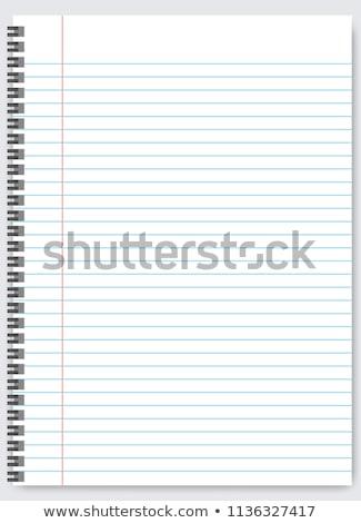 Vektor füzet izolált fehér könyv háttér Stock fotó © dashadima