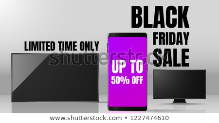 Limited Time Only 50% Discount Vector Illustration Stock photo © robuart