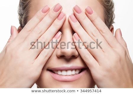 Tökéletes manikűr nő kezek természetes bézs Stock fotó © serdechny