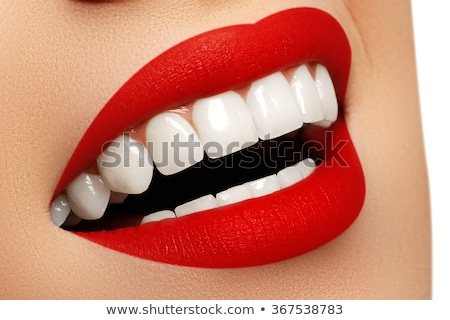 perfetto · sorriso · bianco · sani · denti · labbra · rosse - foto d'archivio © serdechny