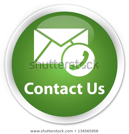 Green Contact Us Icon stock photo © kbuntu