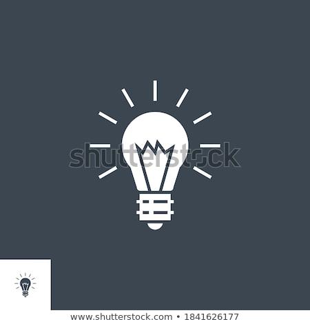 Bulb Flat related vector glyph icon. Stock photo © smoki