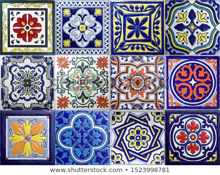 colorful traditional ceramic tiles from cartagena colombia stock photo © boggy