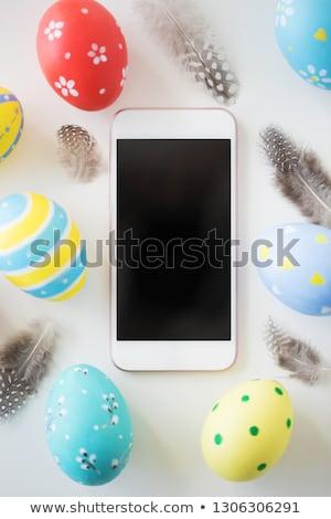 Paskalya yumurtası Paskalya tatil nesne Stok fotoğraf © dolgachov
