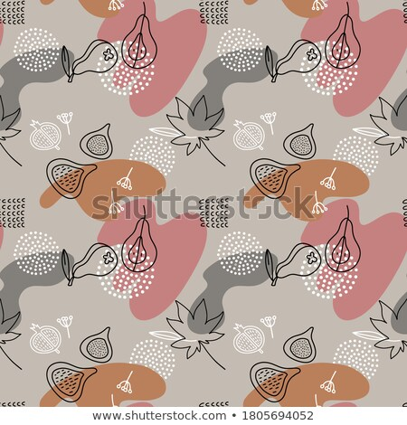 Seamless pattern with hand drawn abstract shapes. Spotted figures. Unique design. Creative backgroun Stock photo © user_10144511