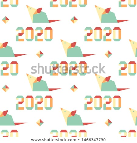 Chinese New Year rat 2020 fun party mouse cartoon Stock photo © cienpies