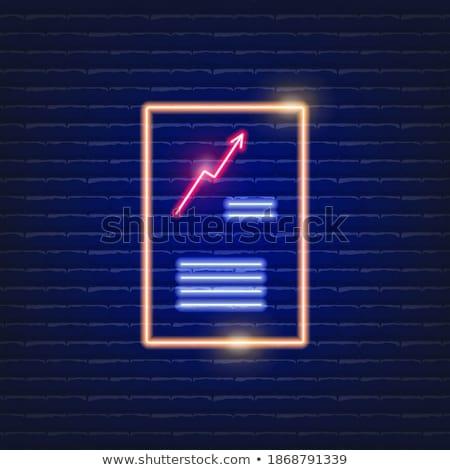 стрелка признаков неоновых посадка страница направлении Сток-фото © Anna_leni