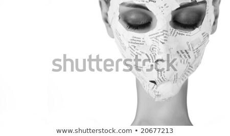 Portré nő közelkép gyönyörű arc ahogy Stock fotó © ElenaBatkova