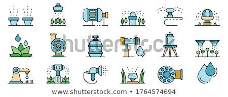 Hose. Isolated color icon. Gardening vector illustration Stock photo © Imaagio