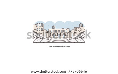 греческий древних театра икона вектора Сток-фото © pikepicture
