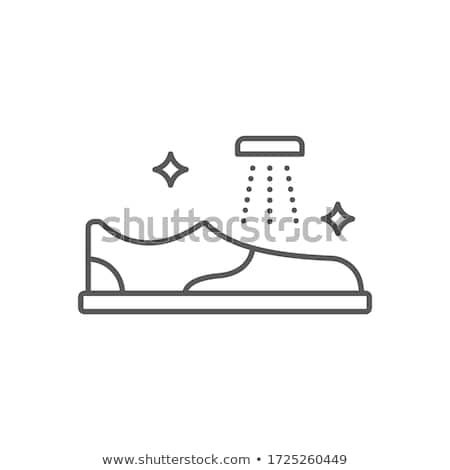 Gardening boots. Pixel icon. Footwear vector illustration Stock photo © Imaagio