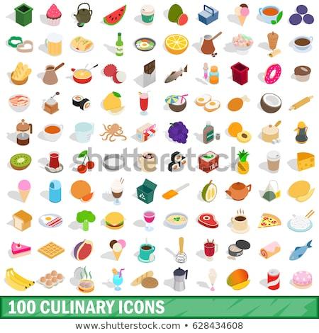 Mutfak mikser pişirme izometrik ikon vektör Stok fotoğraf © pikepicture