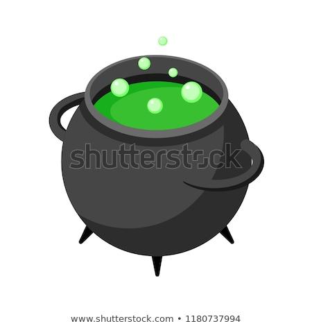 Potion Cauldron isometric icon vector illustration Stock photo © pikepicture