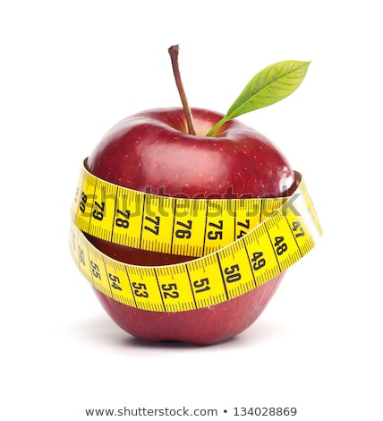 赤いリンゴ · 巻き尺 · リンゴ · 赤 · 食べ - ストックフォト © devon