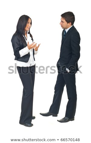 Portrait of two businesswomen listening attentively. Stock photo © HASLOO