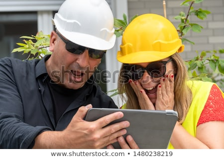 a scared female construction worker stock photo © photography33