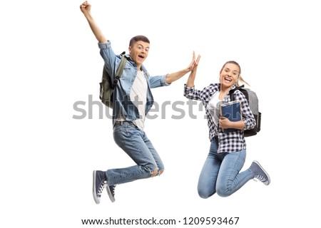 Ugrik diák tart könyv boldog mosolyog Stock fotó © lovleah