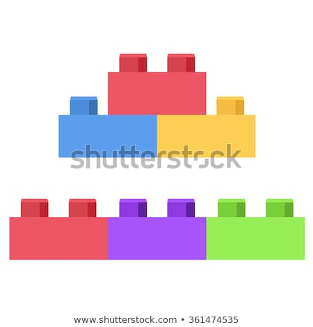 Plastikowe budynków wielokondygnacyjnych tle polu zielone niebieski Zdjęcia stock © nenovbrothers